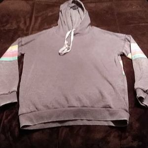 Women's sweater size XS grey with rainbow detail